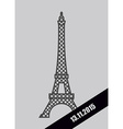 Eiffel Tower black Mourning Ribbon November 13 vector image