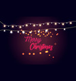 glowing lights for holidayshandwriting merry chri vector image