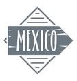 mexico logo vintage style vector image