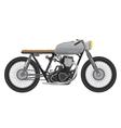 Old vintage motorcycle metallic color cafe racer vector image