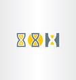 sand clock icons set vector image