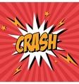 Bubble pop art of crash design vector image