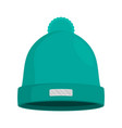 winter hat isolated flat vector image