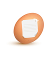 Egg note vector image