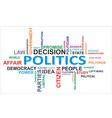 word cloud politics vector image