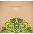 Elegant invitation card vector image vector image