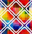 White rectangle rim ornament on rainbow background vector image