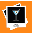 Instant photo martini glass cocktail Halloween vector image