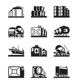 Oil tank terminals vector image