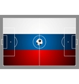 Bright soccer background with ball Russian colors vector image vector image