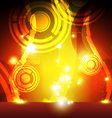 flame eruption with abstract shape vector image vector image