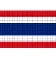 The mosaic flag of Thailand vector image