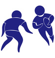 Sport icon for rugby in blue vector image