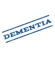 Dementia Watermark Stamp vector image