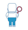 funny man with magnifying glass avatar character vector image