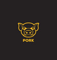 pig logo template design vector image