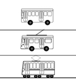 Public transport bus trolleybus tram vector image