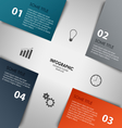 Info graphic with colorful abstract corners vector image vector image