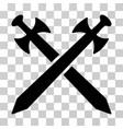 medieval swords icon vector image