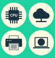 computer icons set collection of tree web vector image