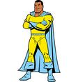 Black Superhero vector image