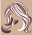 Beauty MakeUp icon in brown vector image vector image