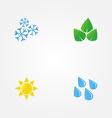 minimal of seasons vector image