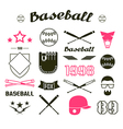 Icons Baseball team vector image