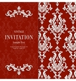 Red Floral 3d Christmas and Invitation vector image vector image