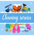 Cleaning service flat vector image