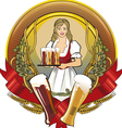Girl beer waitress radial vector image