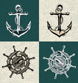 anchor wheel art vector image