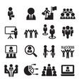 business teamwork training seminar meeting vector image