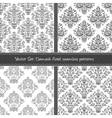 Damask floral textile pattern vector image