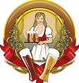 Girl beer waitress radial vector image