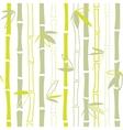 Green bamboo seamless pattern vector image
