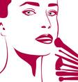 Make-up woman vector image