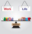 seesaw of work life balance vector image