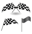 Set of checkered Flags vector image