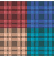 Set of seamless patterns with plaid vector image