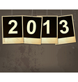new year 2013 grunge background vector image vector image