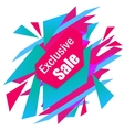 Limited Offer Mega Sale geometrical ultra modern vector image vector image