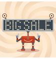 Robot Sale Background vector image