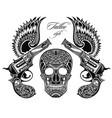 pistols tattoo vector image