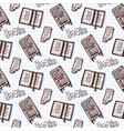 hand drawn seamless pattern with books and vector image