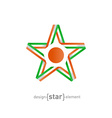 star with flag of Niger colors and symbols design vector image