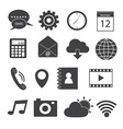 Mobile Application Icons Set vector image vector image