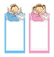 christening girl and boy vector image