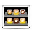 Chat orange app icons vector image vector image