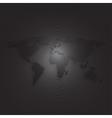 Black world map on dark background textured vector image
